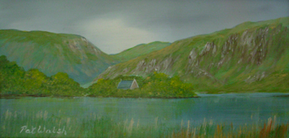 [ DSCN0737.jpg:  Gougane Barra <br> Oil on Board 4