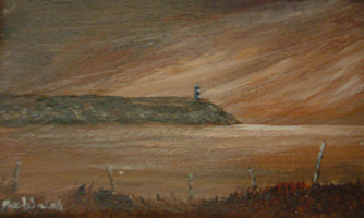 [ DSCN0738.jpg:  The Old Head of Kinsale <br> Oil on Board 2 1/2
