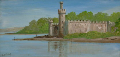 [ DSCN0744.jpg:  Blackrock Castle, Cork City <br> Oil on Board 4