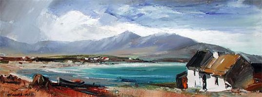 [ cottage_in_connemara.jpg:  Cottage in Connemara<BR>Oil on Canvas 14 x 16 - sold ]