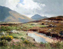 [ wilks_maurice_c_western_landscapes_galway.jpg:  Western Landscape, Connemara, Co Galway<BR>Oil on Canvas 18 x 14 - sold ]