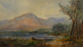 [ Dscn0313.jpg:  A corner, Middle Lake, Killarney, Co Kerry<BR>Watercolour 17 x 10 - Sold ]