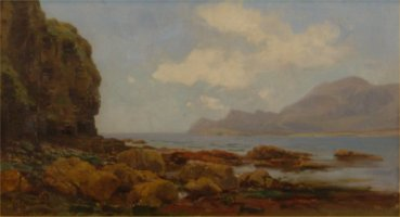 [ Dscn0315.jpg:  West of Ireland, Connemara, Co Galway<BR>Oil on Board 18 x 10 - Sold ]
